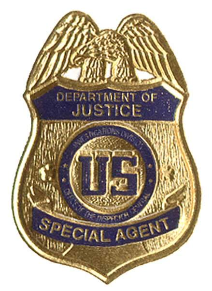 federal bureau of justice us department of justice oig badge business card