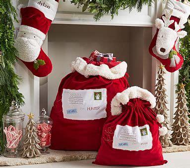 red santa sack for babies pictures letters to santa velvet santa bags pottery barn