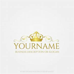Free Logo Maker - Gold crown logo design