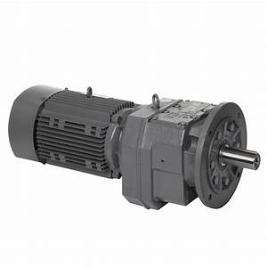 China In-line Helical Gearing Gearbox With Motor