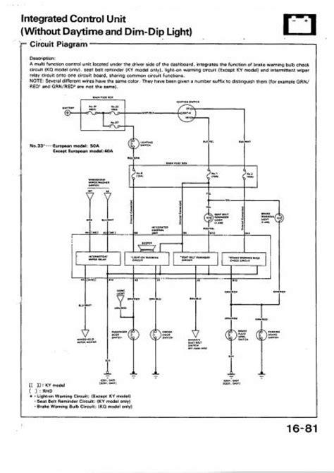 Anyone Got Dash Wiring Diagram Honda Tech