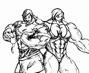 Female Bodybuilder Drawing At Getdrawings