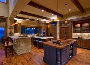 ranch rustic kitchen austin by linda mccalla interiors With kitchen cabinets lowes with texas hill country wall art