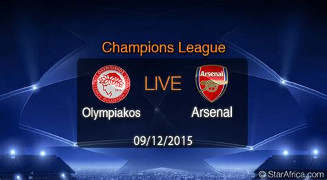 Olympiakos Vs Arsenal Live