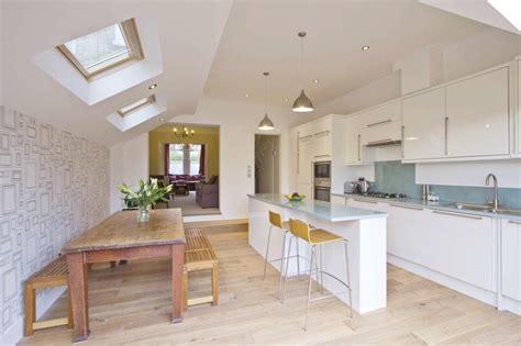 light airy open plan kitchendining room house