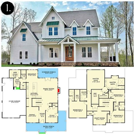 craftsman open floor plans farmhouse house plans with photos house plan 2017