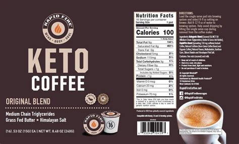 With rapid burn keto weight loss pills, you can finally release your extra fat and become healthier than ever! Rapid Fire Keto Coffee - Original pods - Windmill Vitamins