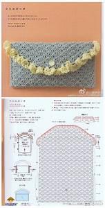 Crochet Diagram For Cute Clutch Purse