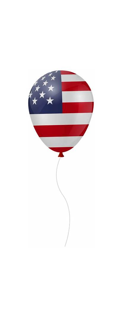 Balloon Usa Clip Transparent 4th July Clipart