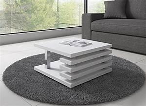 Table Basse Hauteur 60 Cm : table basse oslo 60 x 60 cm blanc mat ~ Dailycaller-alerts.com Idées de Décoration