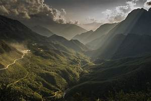 Nature, Landscape, Forest, Mountain, Sun, Rays, Wallpapers
