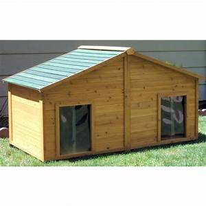 Free insulated dog house plans for large dogs for 2 large dog house