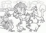Coloring Pages Farming Scenes Farm Animals Popular sketch template