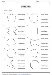 Polygons Shapes and Names Worksheets