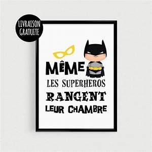 poster a4 superheros pour enfant quotmeme les superheros With affiche chambre bébé avec faire livrer une rose
