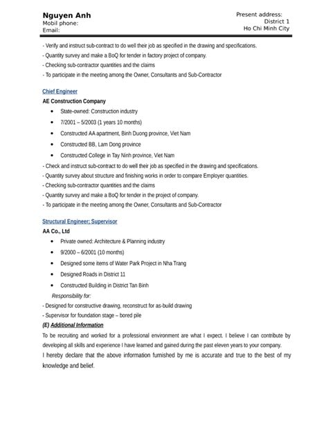 Resume Template For Construction Worker by Functional Construction Worker Resume Template Page 4