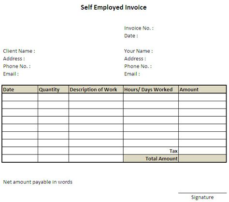 employed invoice template excel invoice