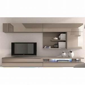 Meuble Laqué Beige : meuble tv design laqu beige maya couleur beige achat ~ Premium-room.com Idées de Décoration