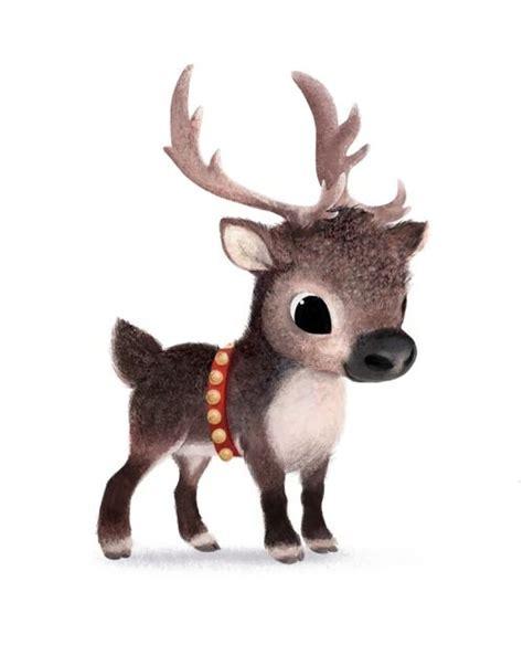 drawn reindeer cute pencil   color drawn reindeer cute