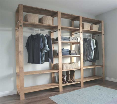 walk in closet ideas do it yourself with hanging