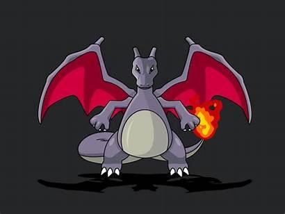Charizard Shiny Dribbble Pokemon Mega Clint Hess