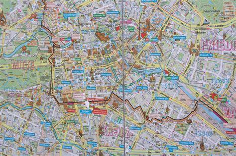 map berlin wall map of the berlin wall kart med