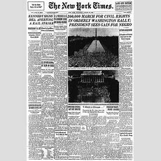 March On Washington Front Pages How Newspapers Covered
