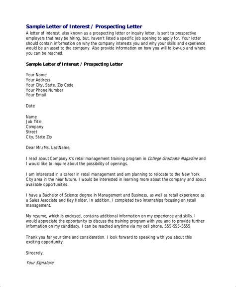 letter of interest for a 8 letter of interest sles sle templates