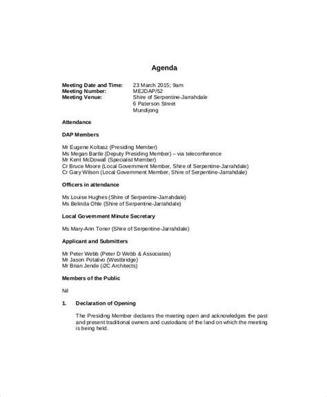 management meeting agenda template   word