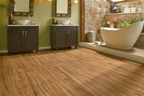 Wood Laminate Flooring In Bathroom. Wood Laminate Flooring 33 Inch Kitchen Sink Grate For Odor From Drain How To Unstop Drop In Copper Make A Kohler Sinks Small Black