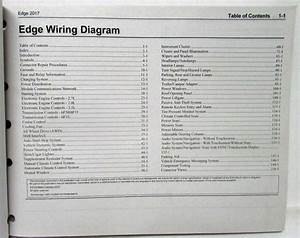 2017 Ford Edge Electrical Wiring Diagrams Manual