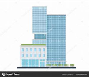 Modern Flat Commercial Office Building Suitable Diagrams