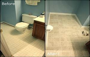 Basement flooring ideas cheap unfinished basement ideas for How to paint ceramic tile floor in bathroom
