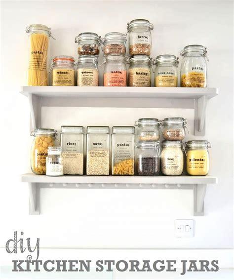 kitchen storage jar diy kitchen storage ideas getting organised in the 3158