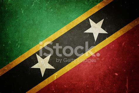 Flag Of Saint Kitts And Nevis Stock Photos