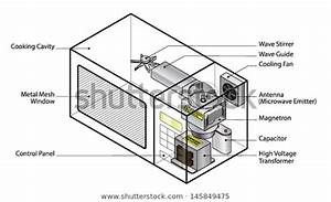 How Does Diagram Microwave Oven Showing Stock Vector  Royalty Free  145849475