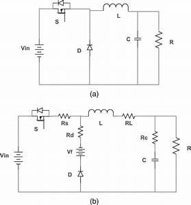 Circuit Diagram Of  A  Buck Converter Without Parasitics