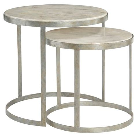 marble nesting tables kendri regency matte silver marble nesting tables 4021