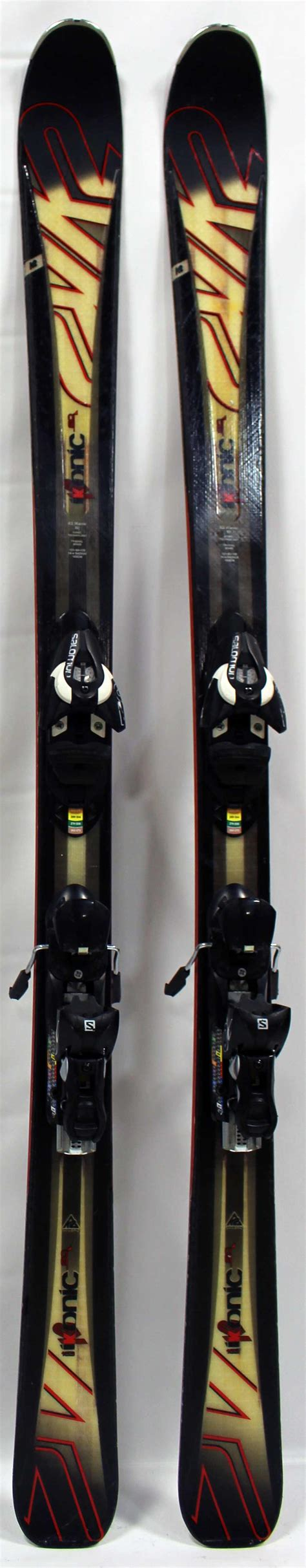ikonic   demo cm skis  bindings