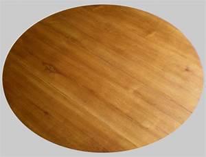 Plateau Rond Pour Table : table ronde ancienne en bois fruitier avec 2 allonges de diam tre 100 cm ~ Teatrodelosmanantiales.com Idées de Décoration