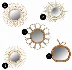 Miroir En Rotin : s lection de miroirs en rotin pas chers jeannine paris ~ Nature-et-papiers.com Idées de Décoration