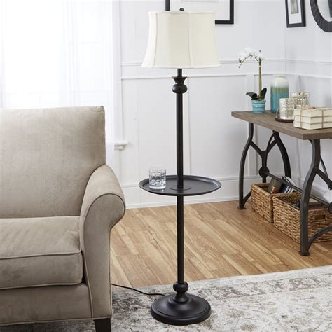 adesso barbery shelf floor lamp oak walmartcom