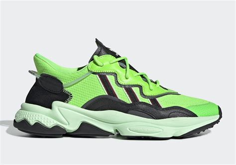 adidas ozweego  flashy  neon green colorway official images