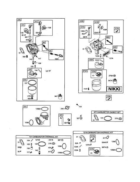 Briggs Stratton Nikki Carburetor Diagram 17 Hp 696353