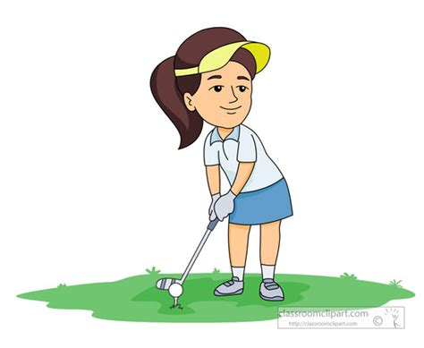 Golf Clipart Clipart- Female-golf-player