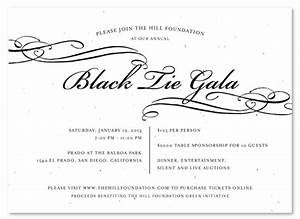 Unique Invitations You Can Plant ~ Black Tie Gala by Green