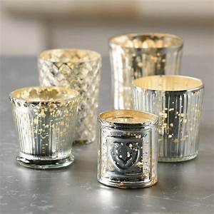 mercury glass votives assorted set of 5 traditional With kitchen cabinets lowes with votive candle holders mercury glass
