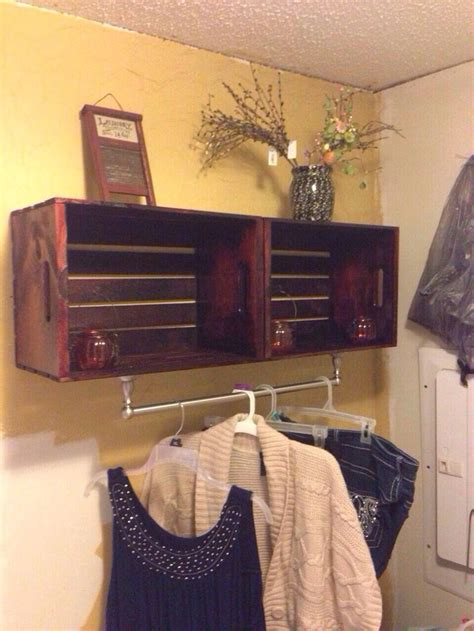laundry room shelf  crates  michaels  hobby