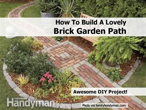 how to make garden how to build a lovely brick garden path
