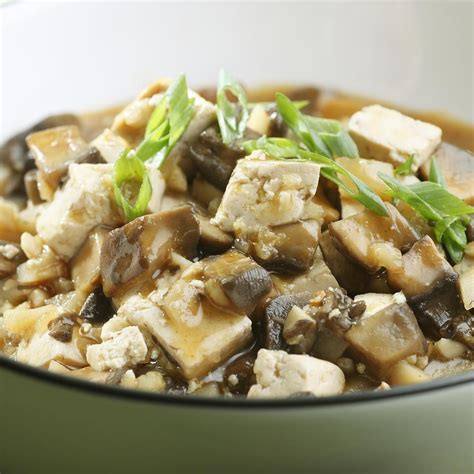 cuisine tofu braised mushrooms tofu recipe eatingwell